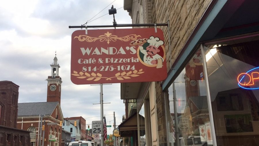 Art Projects-- Wanda's Cafe and Pizzeria Sign