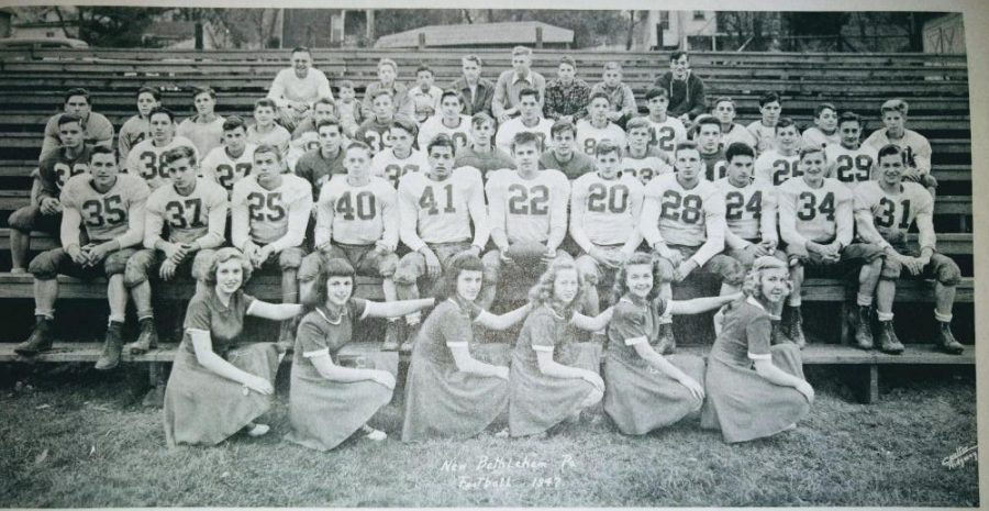 This was the football and cheer leading Squad of 1947