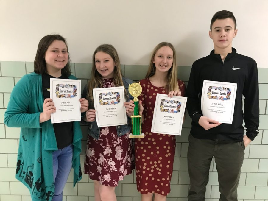 2017-2018 Jr High first place current event winners
