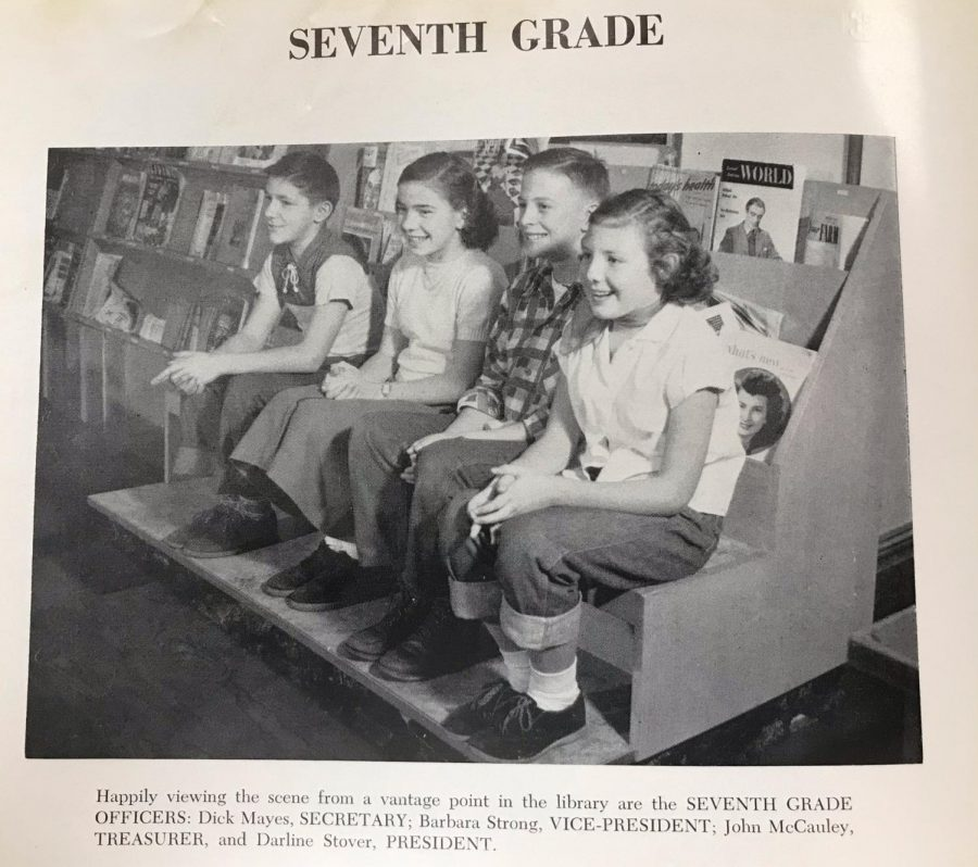 Flashback to 1953 - Seventh Grade Officers